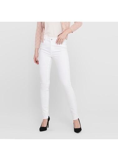 Only Only Kadın Beyaz Jean Pantolon 15155438 Beyaz